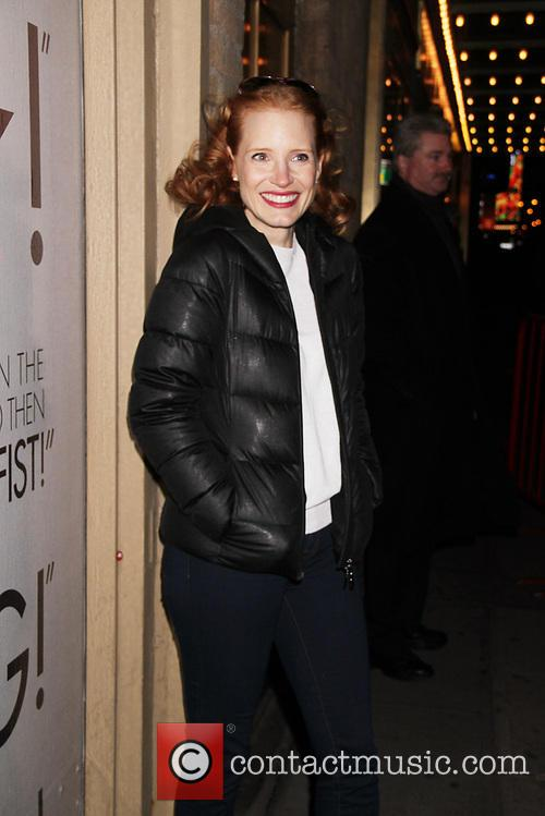 Jessica Chastain at the Walter Kerr Theatre for...