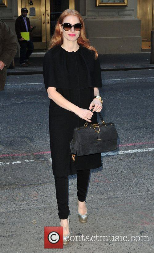 Jessica Chastain arrives for her Broadway show 'The...