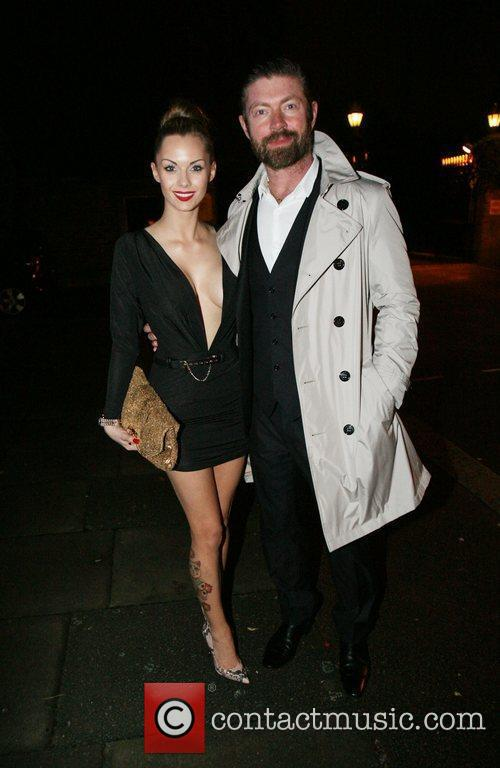 Recently engaged Jessica-Jane Clement is seen leaving the...