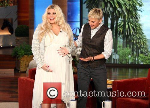 A very pregnant Jessica Simpson makes an appearance...