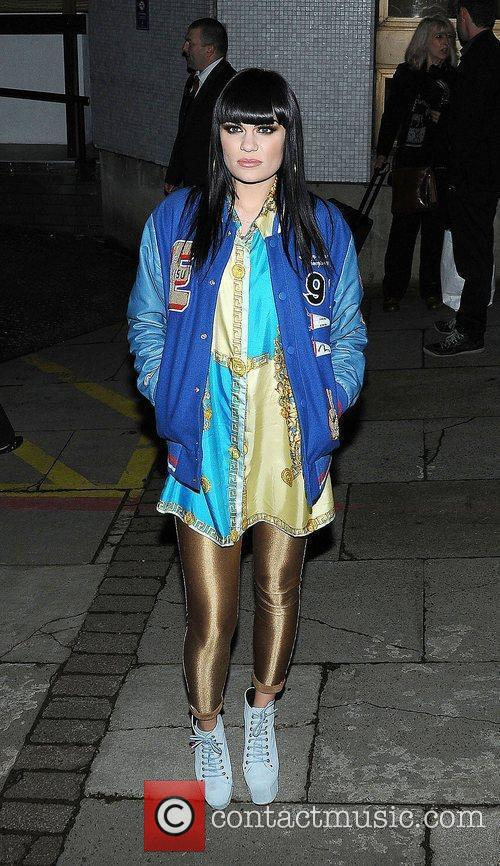 Jessie J leaves the ITV studios after filming...