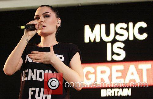Jessie J performs at HMV as part of...