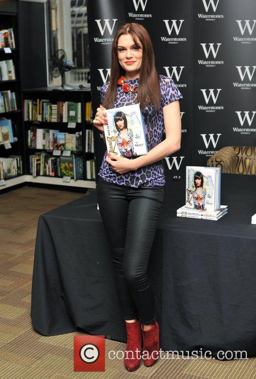 Jessie J signs copies of her autobiography entitled...
