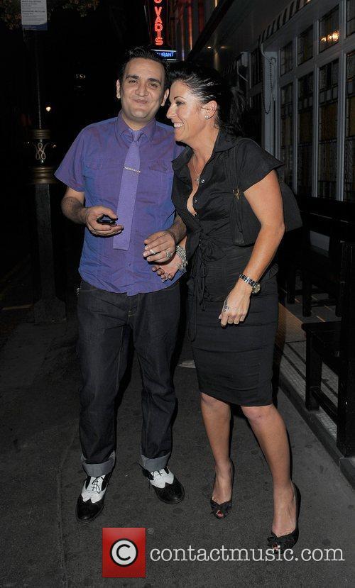 Jessie Wallace and her boyfriend, musician Tim Arnold,...