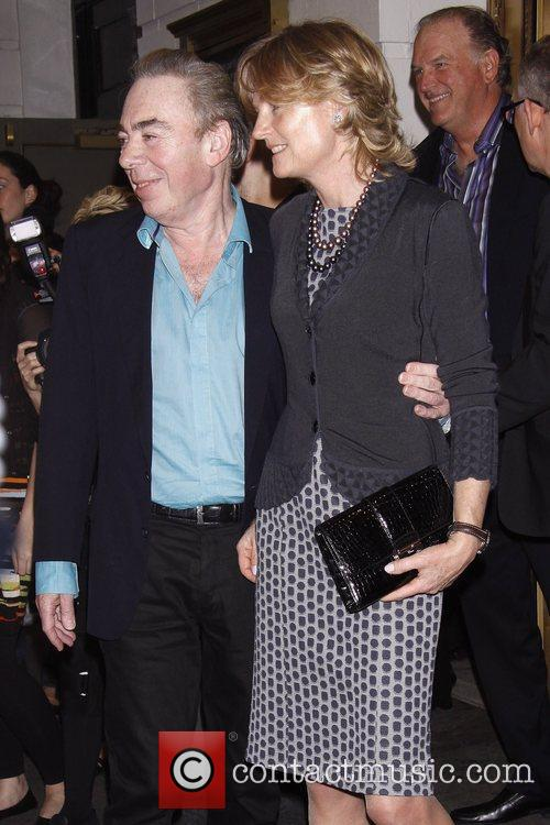 Andrew Lloyd Webber and Madeleine Gurdon Broadway opening...