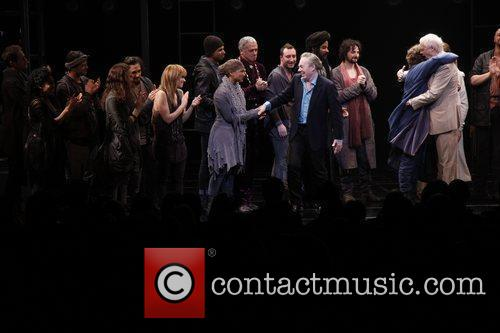 Andrew Lloyd Webber, Tim Rice and cast Broadway...
