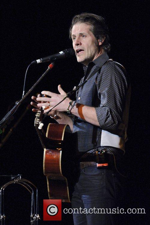 Jim Cuddy  performs live on stage with...