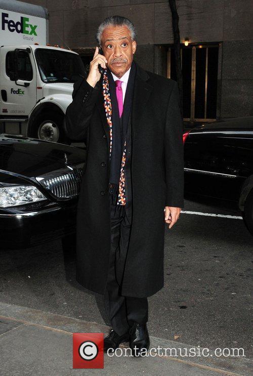 Al Sharpton Celebrities outside the NBC studios for...