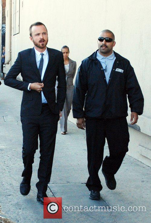 Aaron Paul outside the 'Jimmy Kimmel Live!' studios