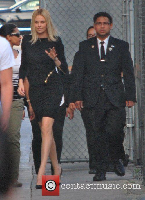 Charlize Theron Celebrities outside the 'Jimmy Kimmel Live!'...