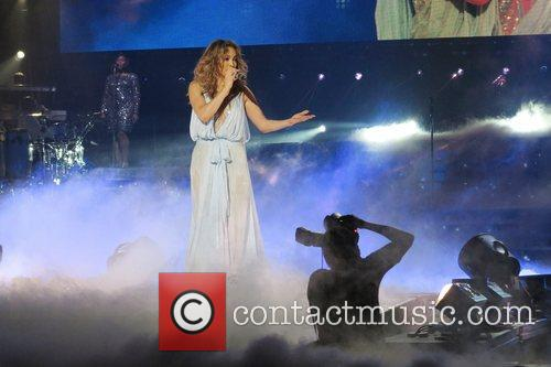 Jennifer Lopez performs live at the O2 Arena....
