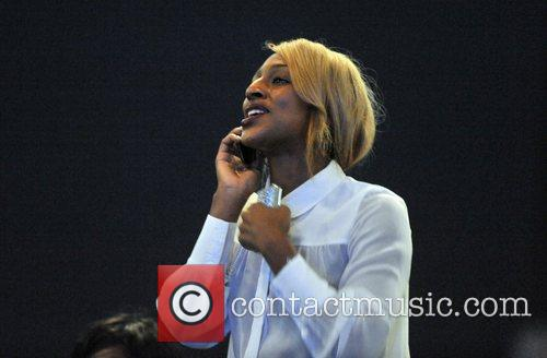 Alexandra Burke Jennifer Lopez performs live at the...