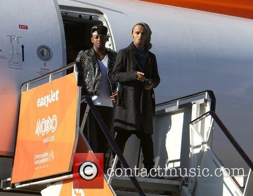 Oritse Williams and Aston Merrygold JLS arrive at...