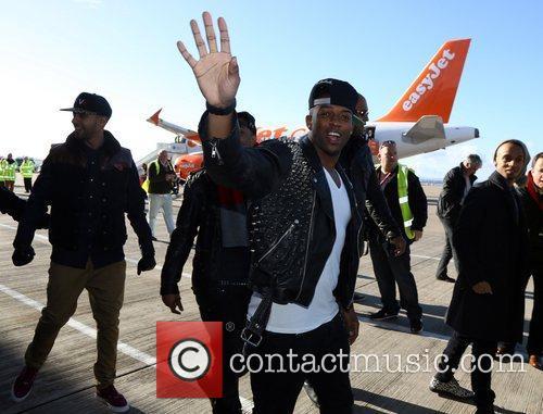 Oritse Williams JLS arrive at Liverpool's John Lennon...