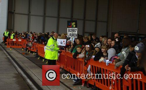 Fans wait to see JLS arrive at Liverpool's...