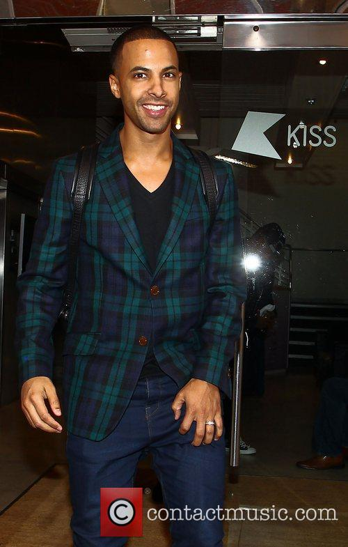 Marvin Humes JLS at the Kiss FM studios...
