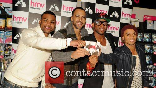 J, B, Jonathan Gill, Marvin Humes, Oritse Williams and Aston Merrygold 3