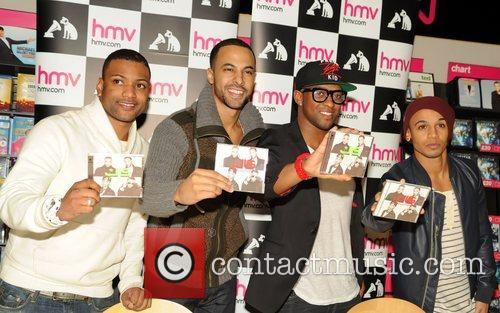 J, B, Jonathan Gill, Marvin Humes, Oritse Williams and Aston Merrygold 5