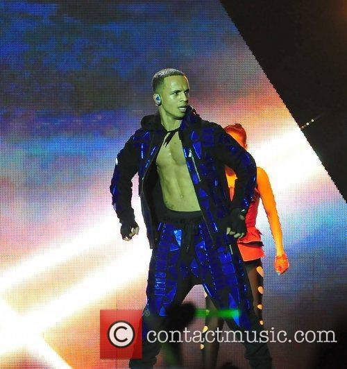 Of JLS performs on the opening night of...