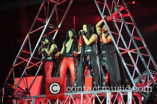 JLS perform on the opening night of their...