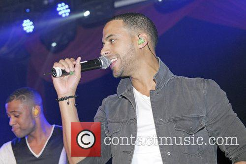 Marvin Humes of JLS  performs at G-A-Y...