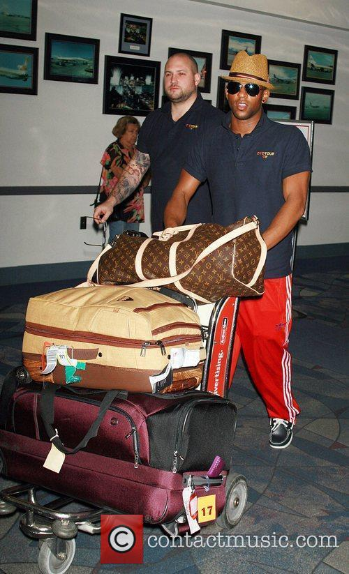 JLS arrive at McCarron International Airport in Las...