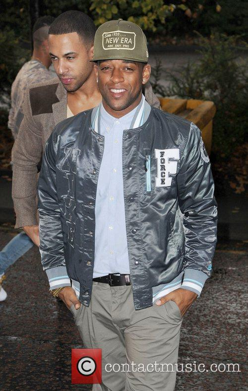 Oritse Williams and Marvin Humes  JLS arrive...