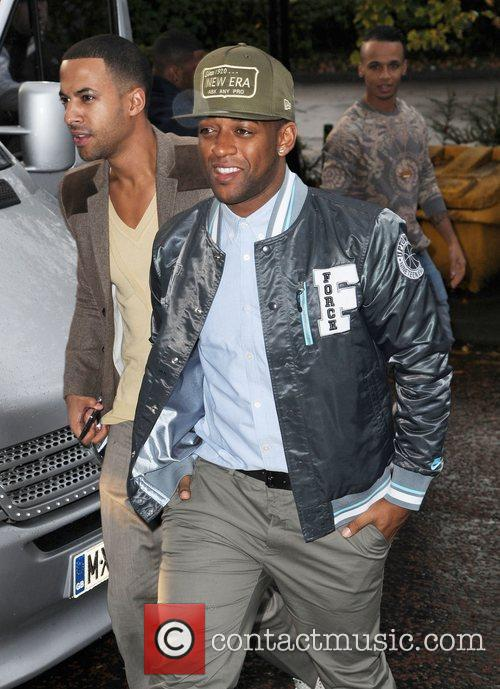 JLS arrive at Key 103 FM Radio