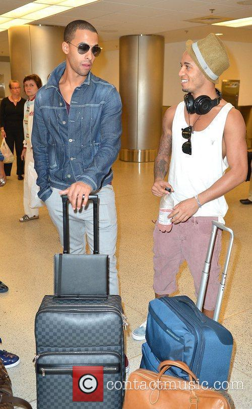 Marvin Humes and Aston Merrygold JLS arrive at...