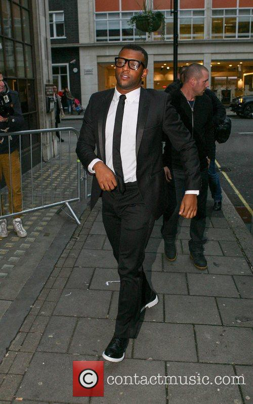 Ortise Williams of JLS arriving at the BBC...