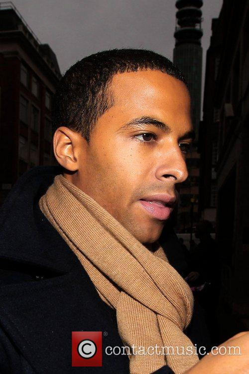 Marvin Humes of JLS at the BBC Radio...