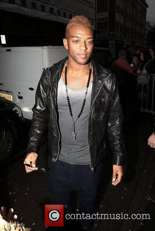 Oritse Williams of JLS at the BBC Radio...
