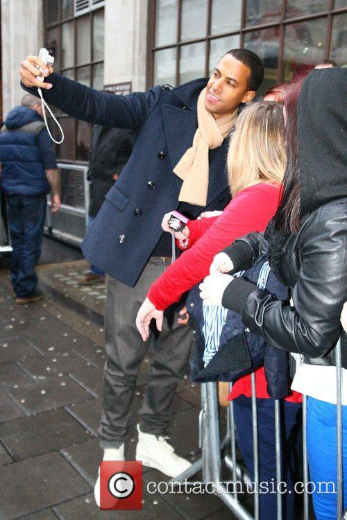 Marvin Humes from JLS at the BBC Radio...