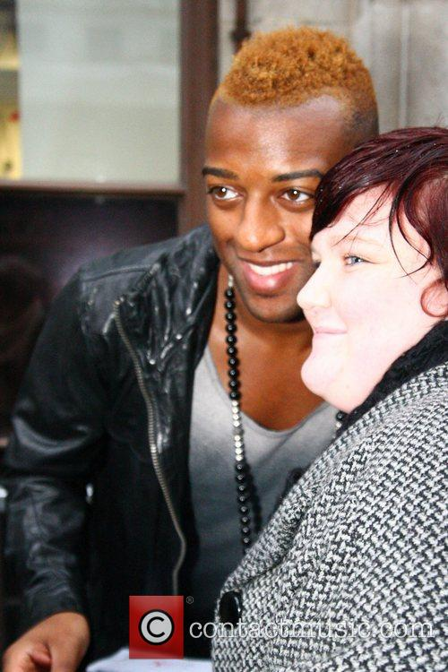 Oritse Williams from JLS at the BBC Radio...