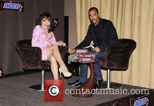 Joan Collins attend the press call to unveil...