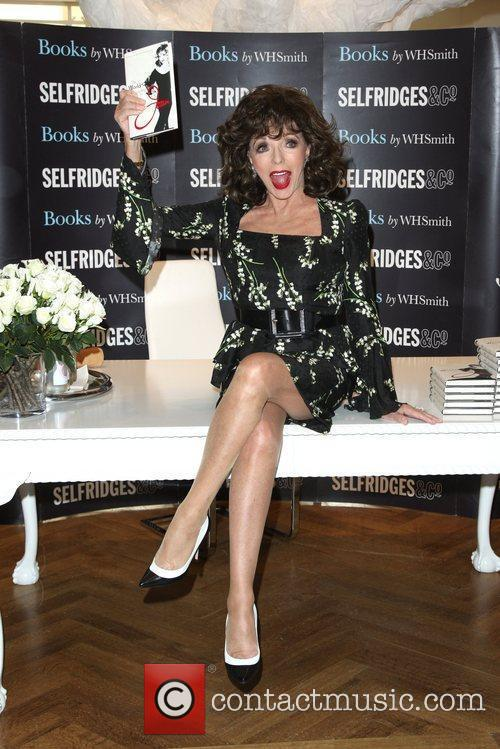 Joan Collins signs copies of her book 'The...