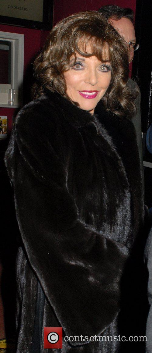 Wearing a fur coat at the Leicester Square...
