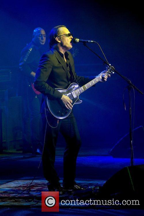 American singer and guitarist Joe Bonamassa performing at...