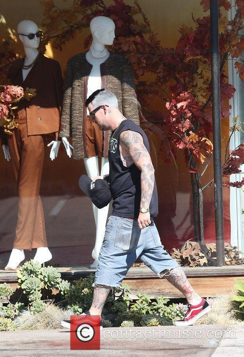 Joel Madden leaving a salon in Beverly Hills...