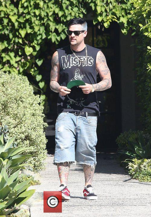 Joel Madden leaving a salon in Beverly Hills