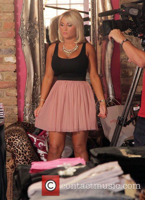 Billie Faiers at her shop in Brentwood