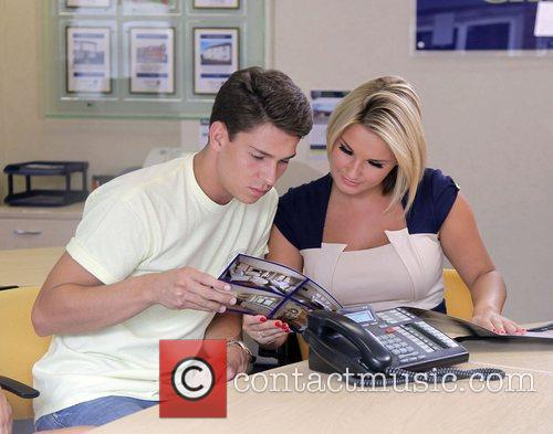 Joey Essex and Sam Faiers visit a local...