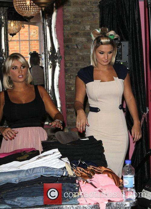 Sam Faiers and her sister Billie Faiers at...