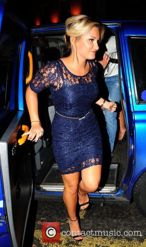 Sam Faiers goes out to dinner at The...