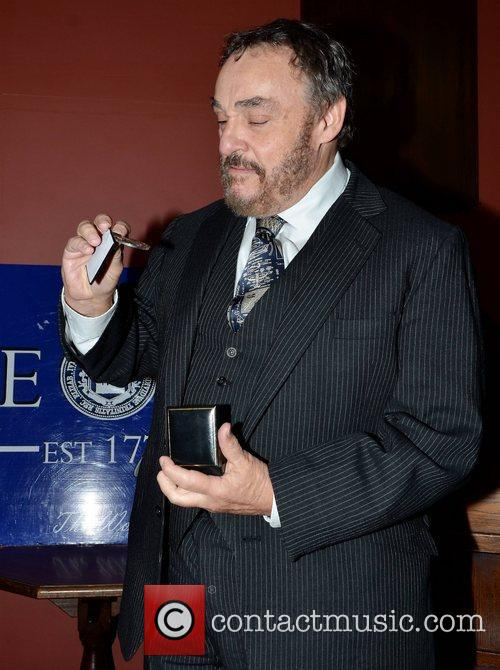John Rhys Davies receives the Burke Medal from...