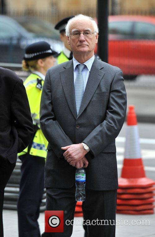 Arrives at John Terry's trial held at the...