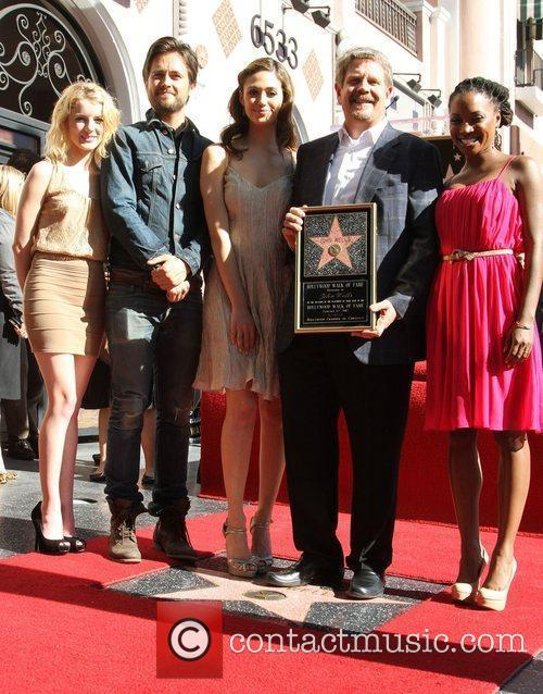 Laura Wiggins, Emmy Rossum, John Wells, Justin Chatwin and Walk Of Fame 1