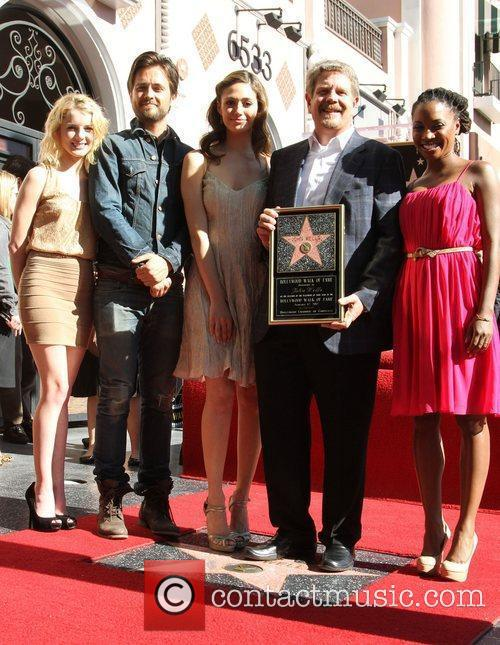 Laura Wiggins, Emmy Rossum, John Wells, Justin Chatwin and Walk Of Fame 2