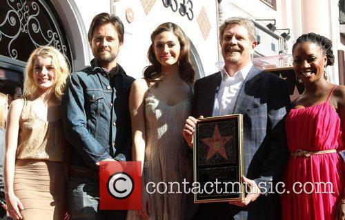 Laura Wiggins, Emmy Rossum, John Wells, Justin Chatwin and Walk Of Fame 3