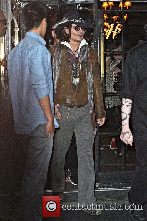 Johnny Depp  seen exiting the Bowery Hotel...
